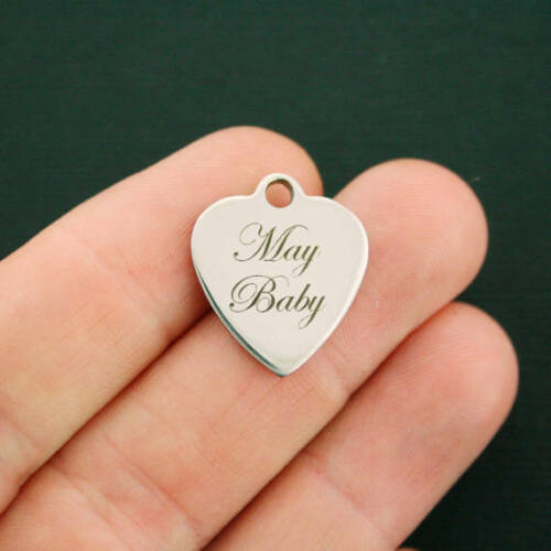 BFS2639 Quantity Options May Baby Stainless Steel Charm Exclusive Line