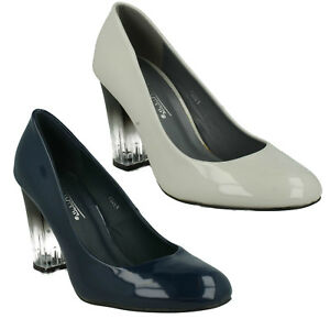042677865c4 Image is loading LADIES-TRANSPARENT-HIGH-HEEL-SMART-FORMAL-PARTY-COURT-