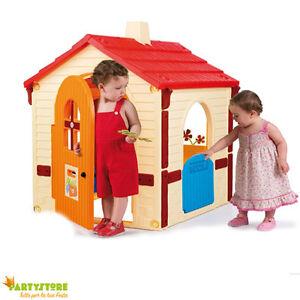 Casetta Per Bambini 109x95x121 Cm Gioco Casa Campagna Esterno