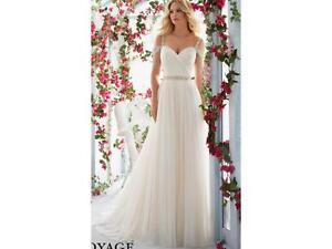 Image Is Loading Mori Lee Wedding Dress 6814 Size 10 Light