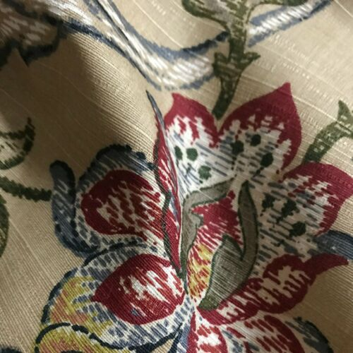 """54/"""" Wheat Traditional Floral Printed Upholstery Fabric by the Yard"""