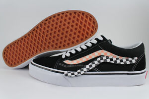 7759d07f4d VANS OLD SKOOL REMOVABLE SIDESTRIPE V BLACK WHITE RED CHECKER US MEN ...