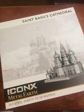 ICONX Metal Earth St Basil Cathedral 3D Laser Cut Model NIB