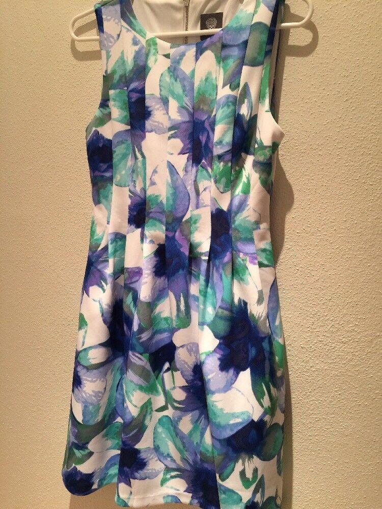Women Beautifull Dress Coctail White Green bluee Sleeveless 6 Vince Gamuto