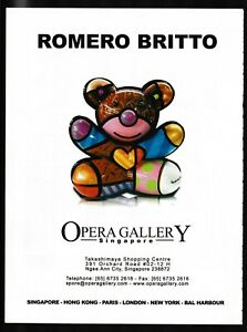 Romero Britto Art Gallery Exhibit Opera Gallery Singapore PRINT AD