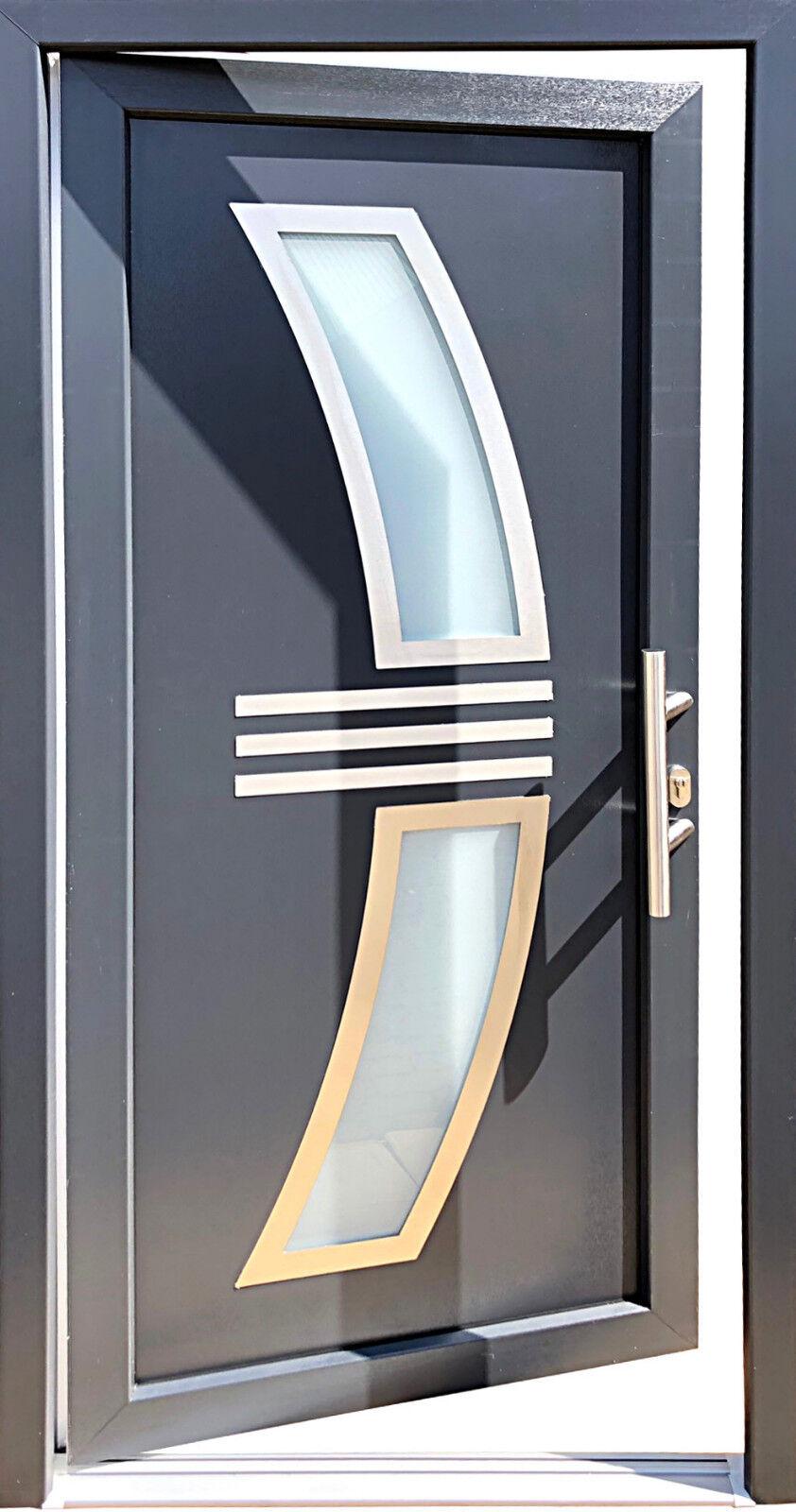 Nr.2 Haustür 100 100 100 x 210 cm,Wohnungstür in anthrazit,Hauseingangstür,Innen R. a7a492