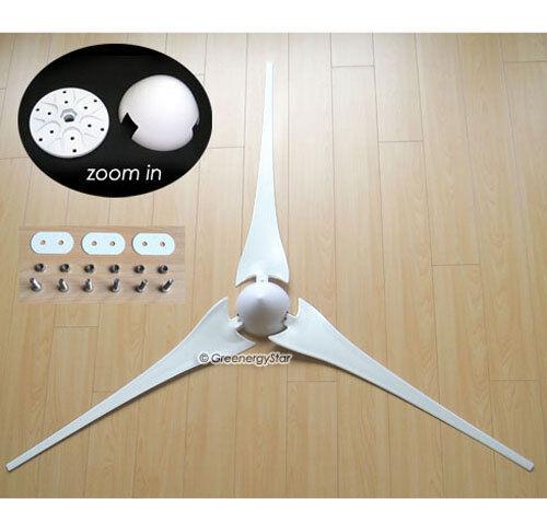 """3 X 62/"""" Wind Turbine générateur de lames HUB Coiffe 3 Socket Adapter AIR-X 403"""
