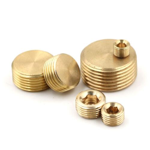 """Brass 1//8/"""" 1//4/"""" 3//8/"""" 1//2/"""" NPT Brass Internal Hex Thread Socket Pipe Plug /&l"""