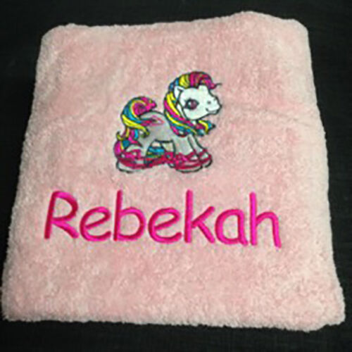 EMBROIDERED BATH TOWEL MY LITTLE PONY
