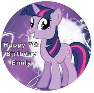 My Little Pony Twilight Sparkle Personalised Cake Topper Edible