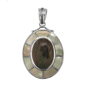 Offerings-Sajen-925-Sterling-Silver-Pietersite-and-Mother-of-Pearl-Pendant
