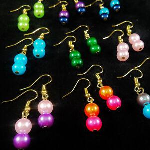 9-pairs-IMITATION-PEARL-EARRINGS-acrylic-CHOOSE-YOUR-MIX-handmade-jewellery