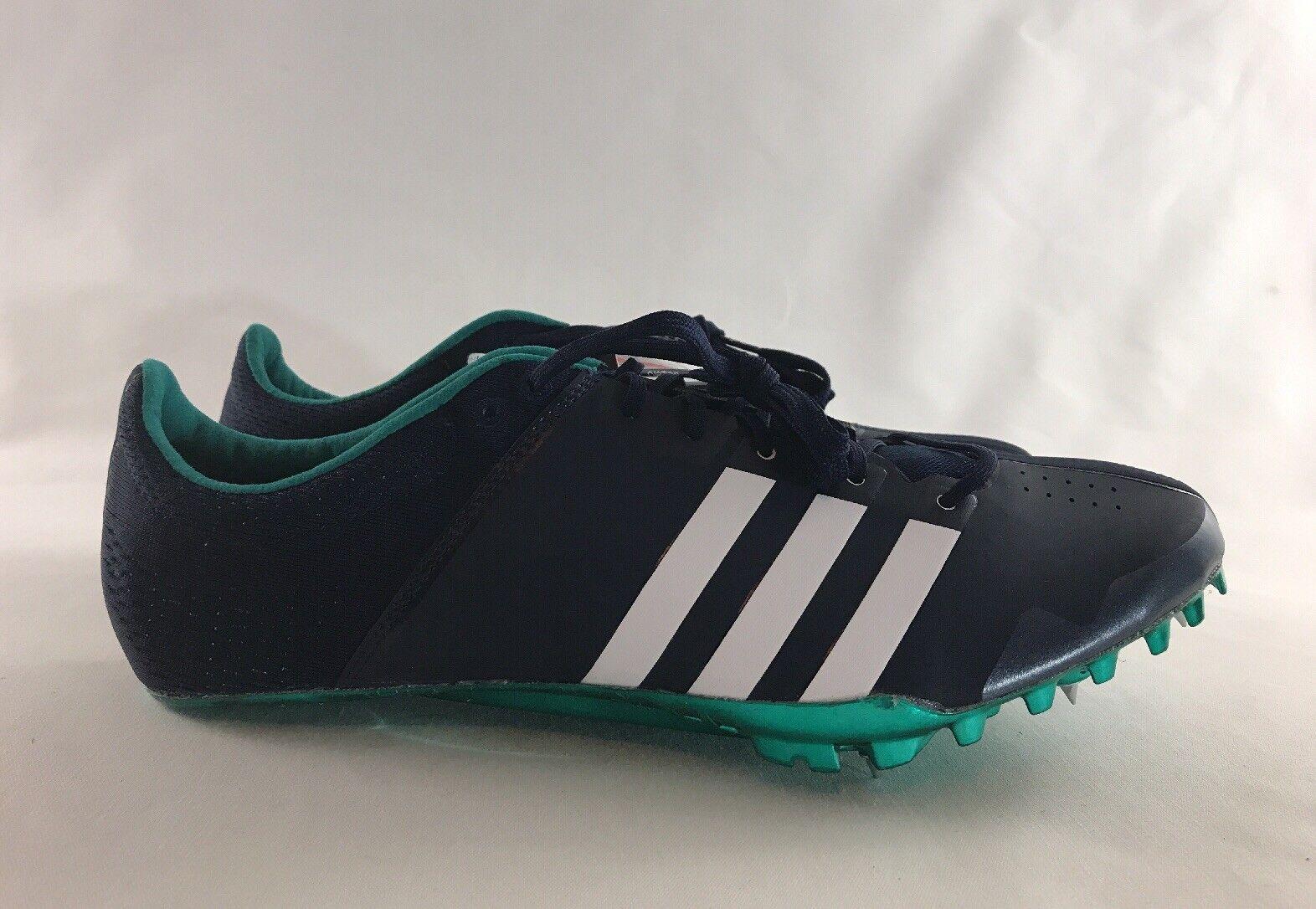 ADIDAS Adizero Green Navy Running Sprinter Track Cleats shoes AF5647 Men's 11.5