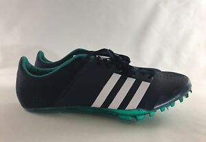Adidas Adizero Running Sprinter Track Cleats Men's Size 11.5 Green Navy AF5647