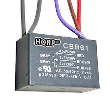 HQRP Capacitor para Hampton Bay de Ventilador 4.5uf+5uf+6uf, 5-Alambres / CBB61