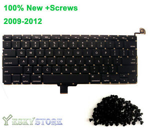 New-Apple-Macbook-Pro-Unibody-13-3-034-A1278-Keyboard-2009-2010-2011-2012-US-SCREWS