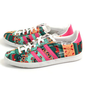 Adidas Gazelle OG WC Farm W Classic Casual Shoes White Bloom Multi ... 0089a0522