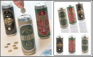 """3 Spardosen Bierdosen """" BEER Bier """" Sparschwein Sparbüchse Vintage ca 16x7cm"""