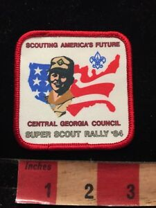 Vtg-1984-CENTRAL-GEORGIA-COUNCIL-SUPER-SCOUT-COUNCIL-Boy-Scouts-Patch-86N6