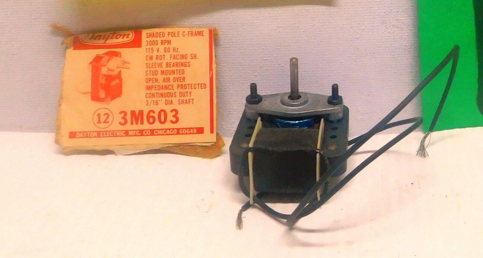115V Dayton Electric Motor 3M603 3000RPM NOS 1//250HP