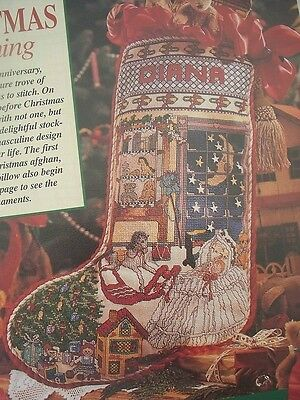 Hush A Bye Baby Christmas Stocking Design OOP Magazine Cross Stitch PATTERN