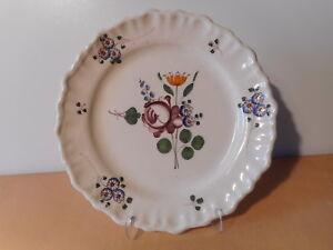 Piatto-antica-ceramica-Bordeaux-XVIII-18-siecle-fiore-ceramica-francese-4