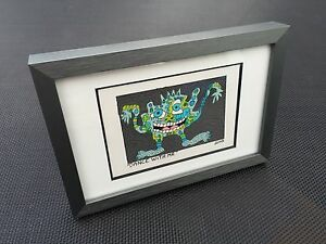 RIZZI-Original-Farblithographie-034-DANCE-WITH-ME-034-3D-Vorlage-gerahmt-2002