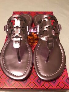 0ba7fbca41006 Image is loading NIB-Tory-Burch-Miller-Mirror-Metalic-Sandal-Size-