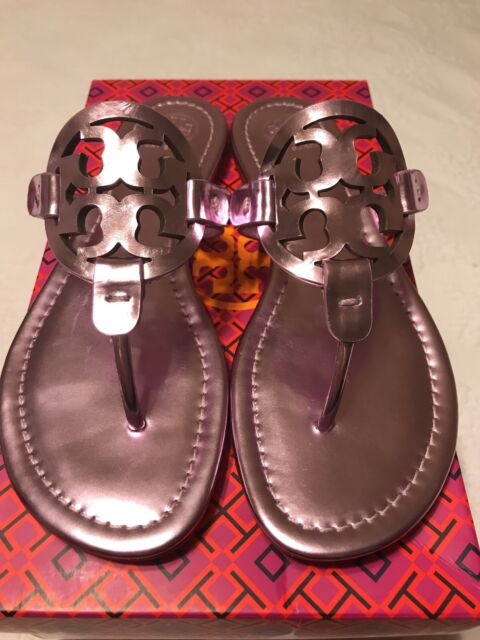 15923209fc64 Tory Burch Miller Metallic Rosa Leather Thongs Sandals Sz 9 M for ...