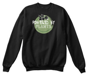 Details About Quality Funny Vegan Quotes Powered By Plants Standard Unisex Sweatshirt