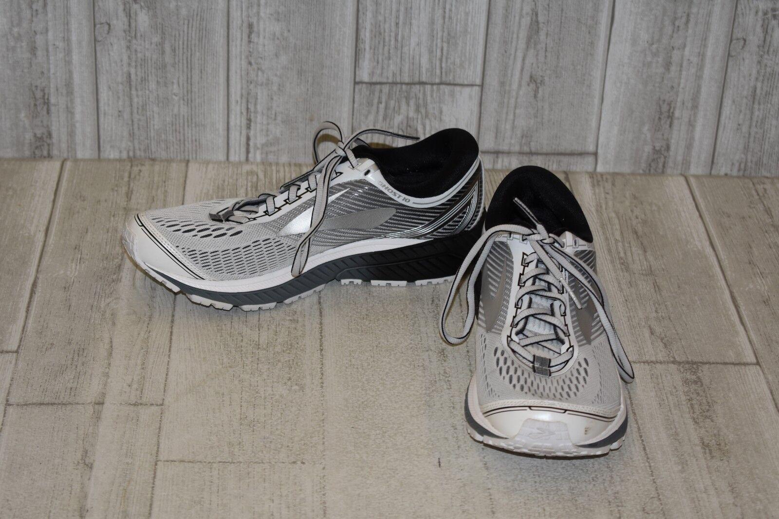 Brooks Ghost 10-calzado para correr para hombres D, blancoo Plateado Negro