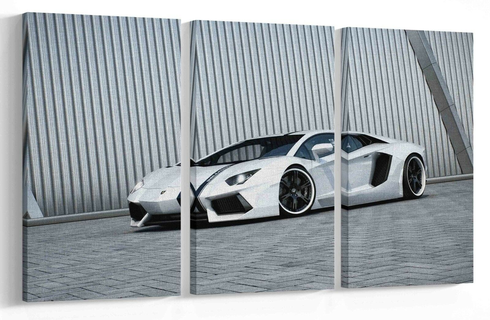 LAMBORGHINI AVENTADOR RACING CAR MULTI PANEL CANVAS WALL ART PICTURE PRINT AU5