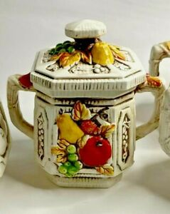 Lefton-Vintage-3D-Fruit-Design-Tea-Set-Dinnerware-New-Trends-410-7-pcs