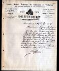 """SAINT-AMAND-MONTROND (18) COMMERCE de CHEVAUX & de CALECHES """"PETITJEAN"""" en 1908"""