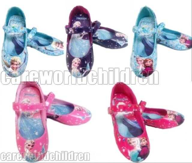 Frozen Elsa Princess Cosplay Girls Kids Baby Shoes Size 7 8 9 10 11 12 13 1 2 3