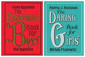 dangerous book for boys daring book for girls 2 pack ebay. Black Bedroom Furniture Sets. Home Design Ideas