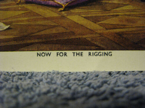 Now For The Rigging-Men /& Ship Print-Great Britain-1959