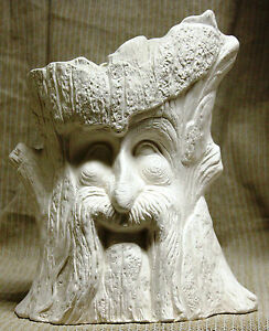 Ceramic-Bisque-Planter-Robin-Wood-Pot-TL-Design-Mold-1302-U-Paint-Ready-To-Paint