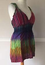Gringo Large U.K. 12 14 hippy boho Vest top Camisole Top T-shirt Chakra Rainbow