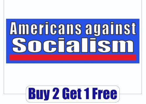 GoGoStickers Americans Against Socialism 2020 Bernie Sanders Bumper Sticker