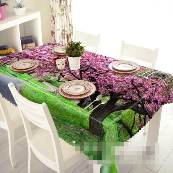 3D rose Tree 6 Tablecloth Table Cover Cloth Birthday Party Event AJ WALLPAPER AU