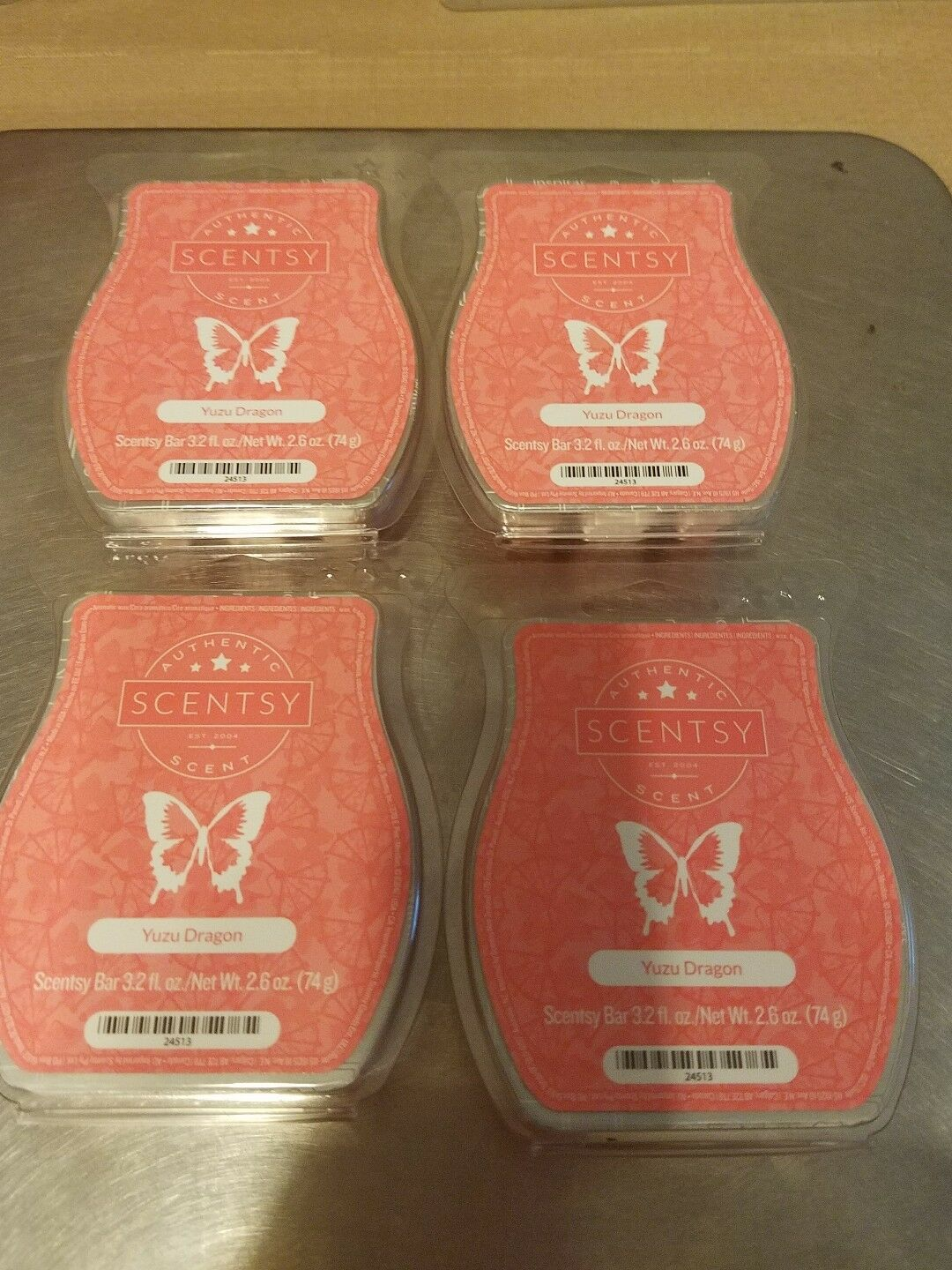 Scentsy Bar Lot of 4 NEW   YUZU YUZU YUZU DRAGON BARS  BARS-- RARE 003c57