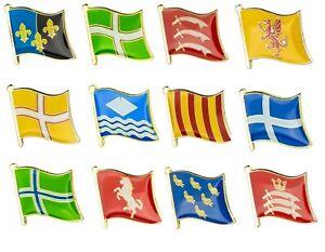 UK COUNTY FLAG LAPEL / PIN BADGE HIGH QUALITY ENAMEL BADGE