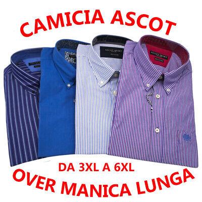 CAMICIA UOMO Taglie forti manica corta 3XL 4XL 5XL 6XL cotone quadri azzurro