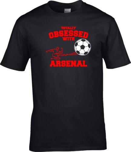 Totalmente Obsessed Con Regalo Divertente T-SHIRT S Arsenal Calcio 5XL