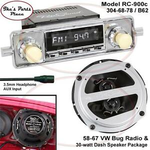 Details about RetroSound LAGUNA-C Radio & Dash Speaker D-62 Combo Package  58-67 VW Beetle/Bug