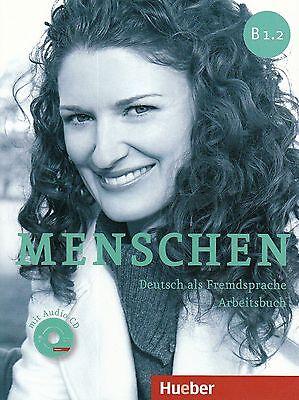 hueber menschen b1 2 deutsch als fremdsprache arbeitsbuch mit audio cd new 9783195119030 ebay. Black Bedroom Furniture Sets. Home Design Ideas