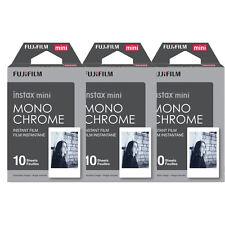 30 Prints Fujifilm Instax mini Monochrome B&W Fuji Instant Film for 8 70 25 SP-2