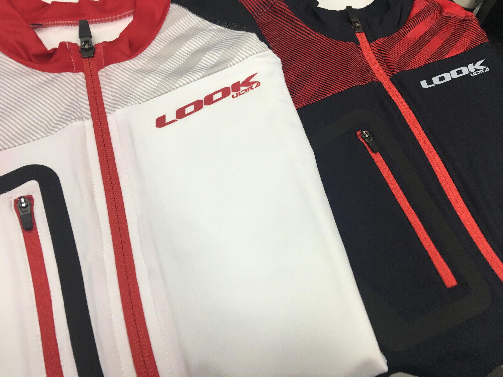 Mira maillot Ultra Manga Corta Camiseta De Ciclismo Para Hombre Talla M (negro blancoo-rojo)