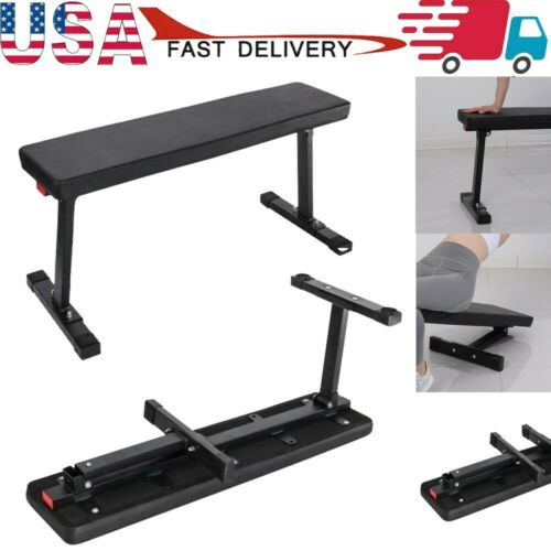 Power Block Weight Bench Sit Up Flat Crunch Board AB Foldable Abdominal Fitness